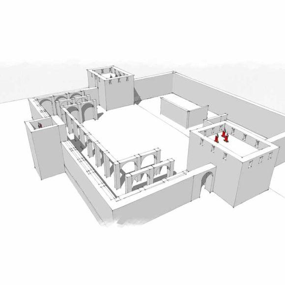 2. Combattere i pirati: le torri e le mura del castellum romano